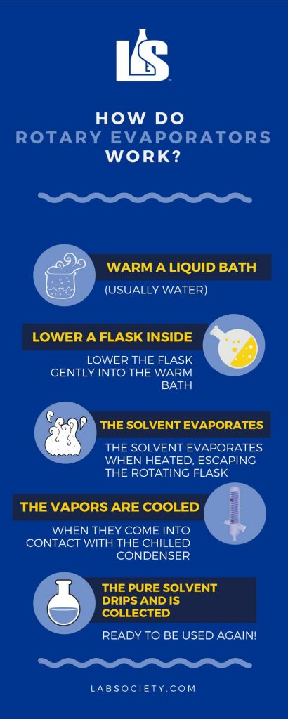 How Does a Rotovap Work? [infographic]