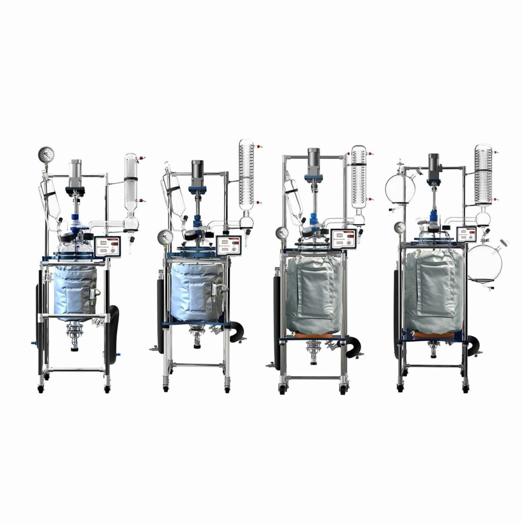 Jacketed Glass Reactor with Accessories   Lab Society