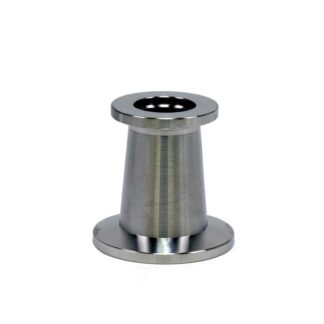 Stainless Steel Vacuum Reducer Conical Flange - Adapter KF25 to KF16 - Buy Online From Lab Society Laboratory Equipment and Supplies