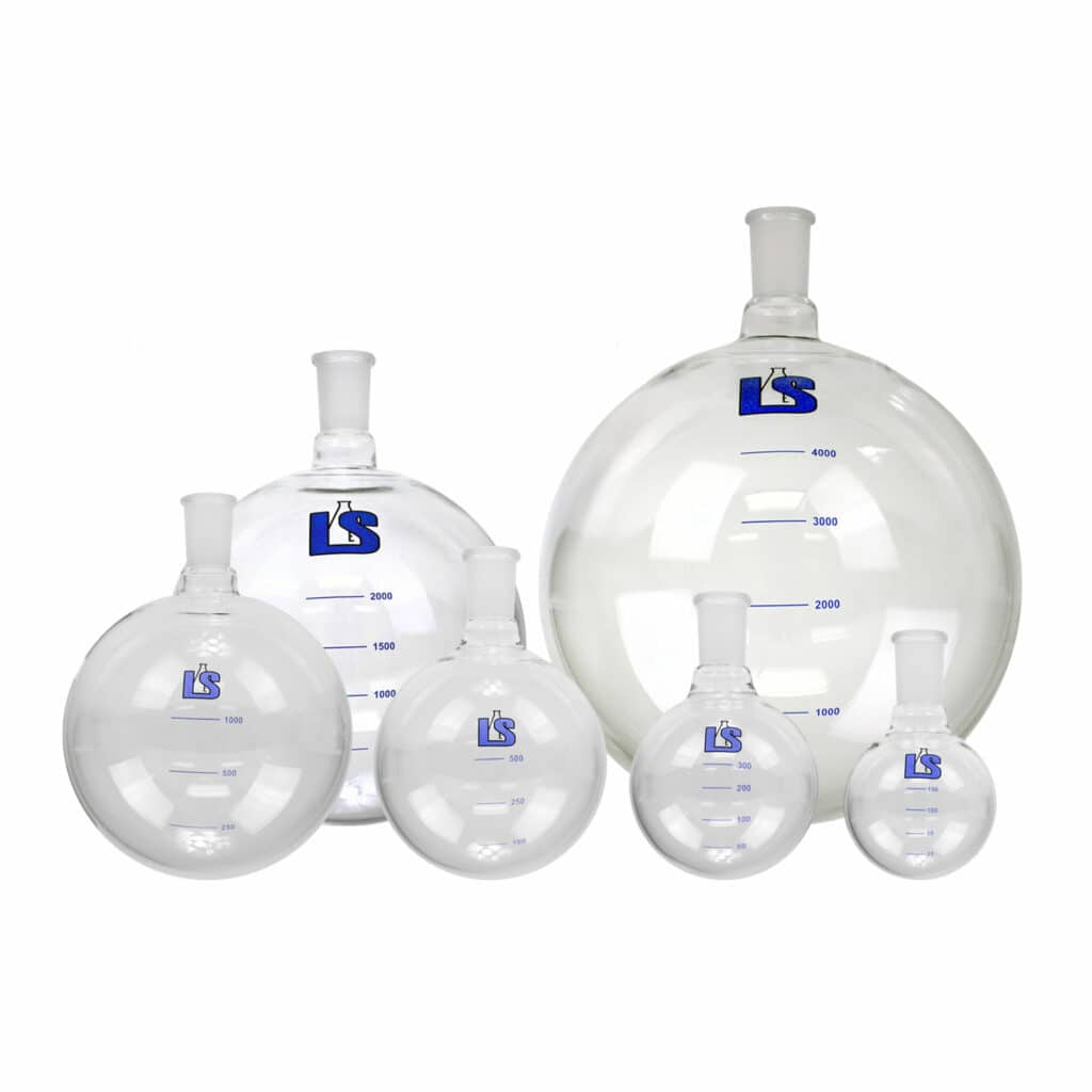 Buy a graduated round bottom receiver (multiple sizes) online from Lab Society.