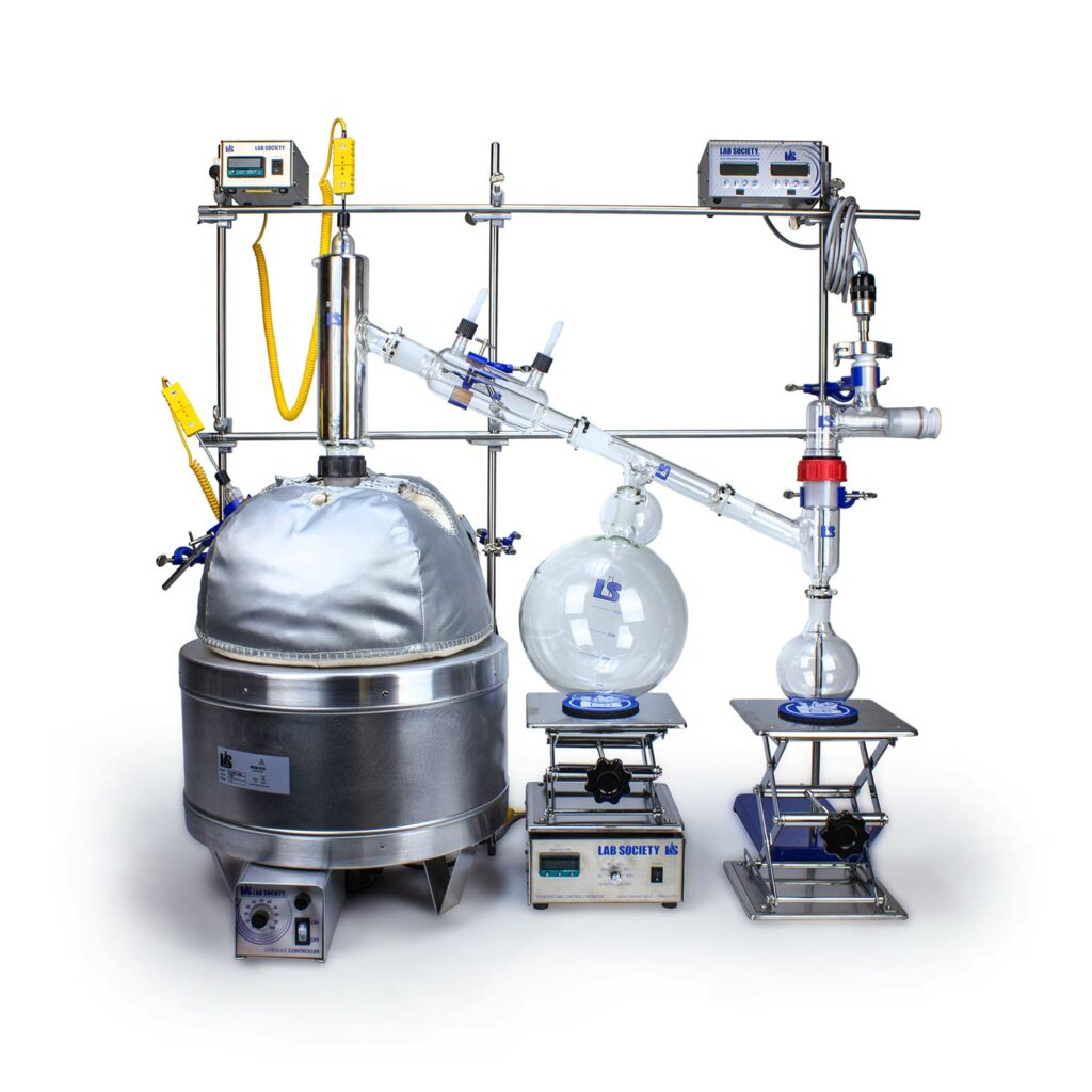 Buy a 12L Short Path Distillaion Kit for Fractional Distillation (Compatible with Our Automation Software) Only From Lab Society.