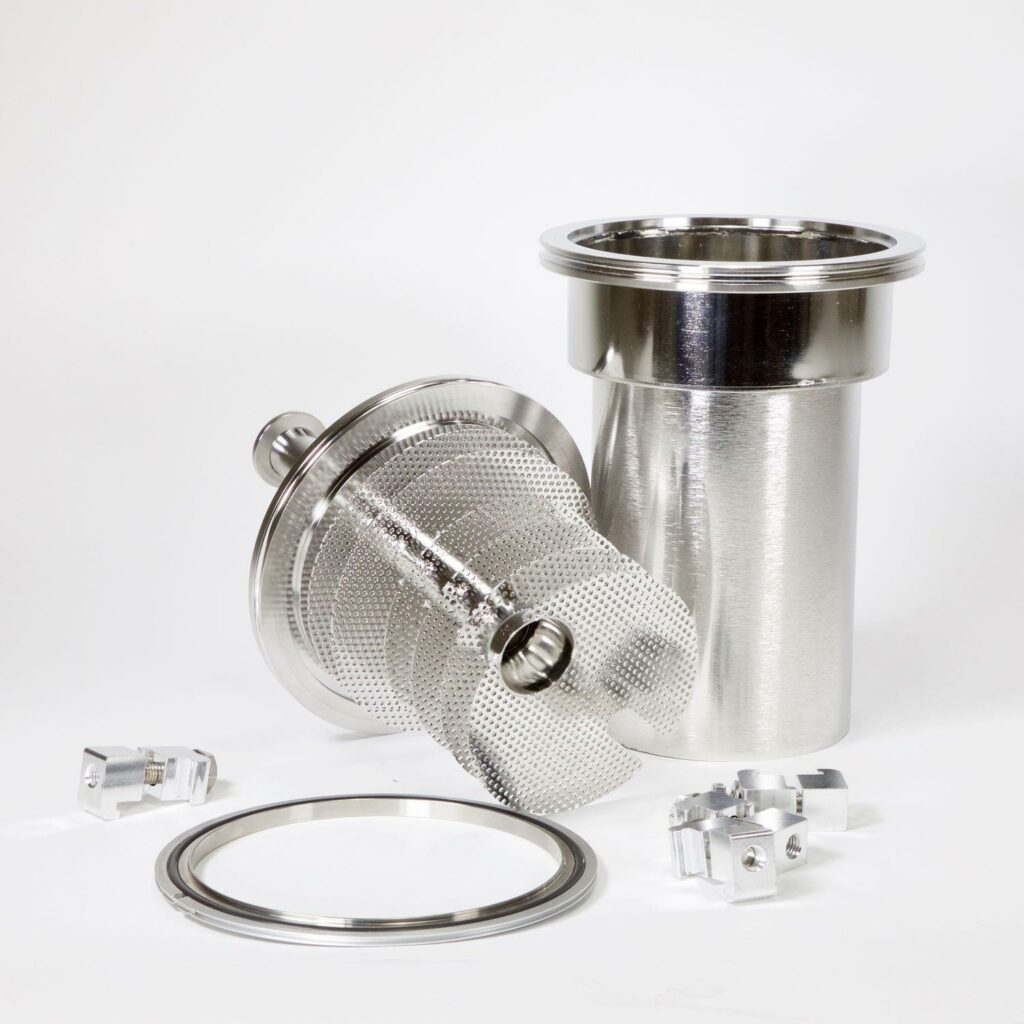 Buy a Stainless Mechanical Cold Trap Insert, KF Connections Online from Lab Society - American-made Laboratory Equipment