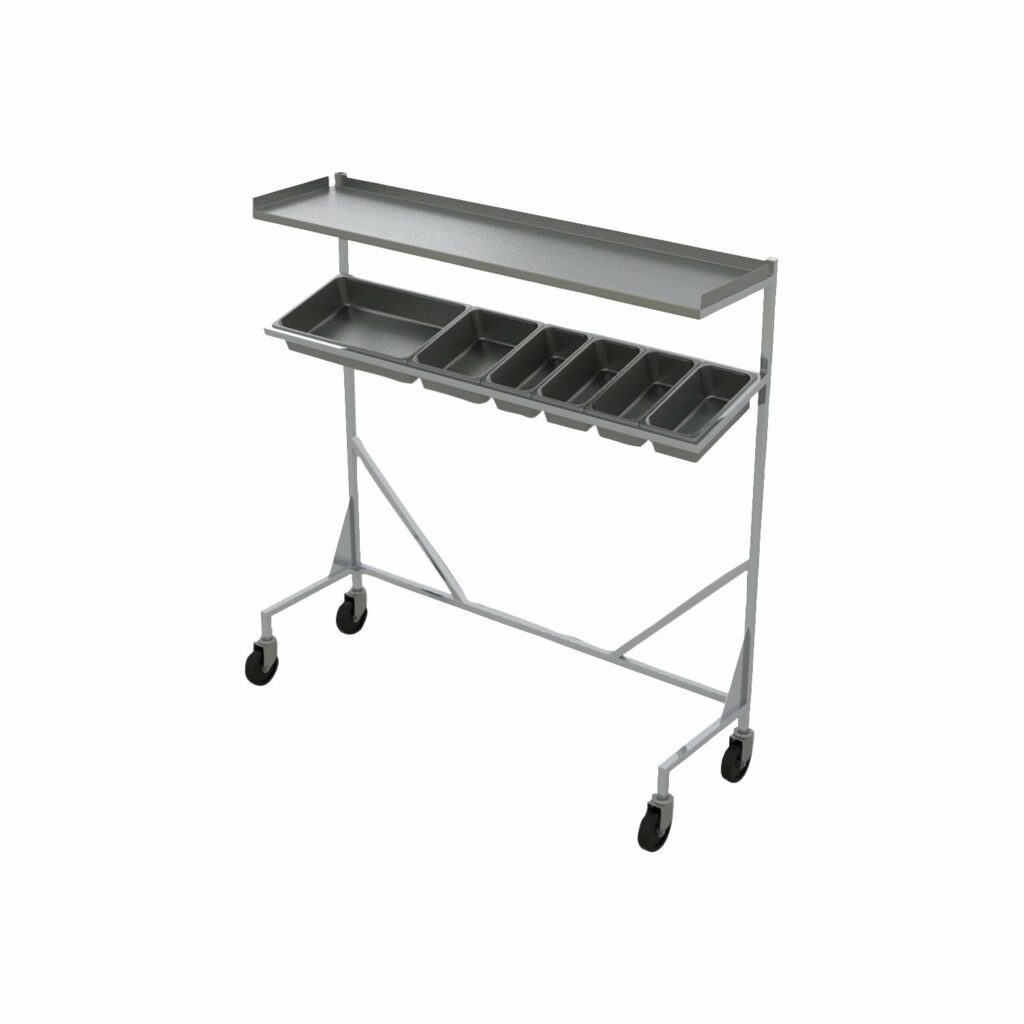 Stainless Steel Trimming Cart