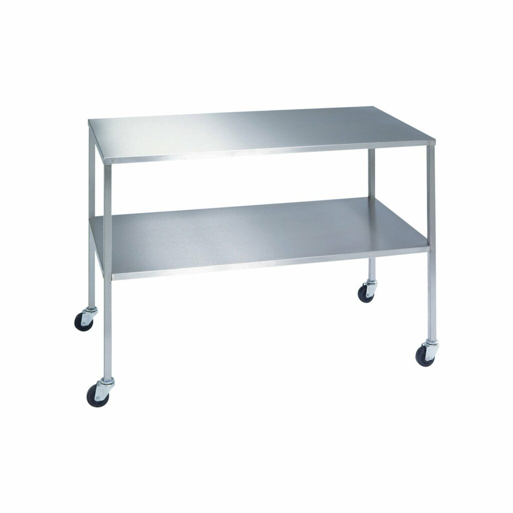 Work Table Stainless (Two Shelf)