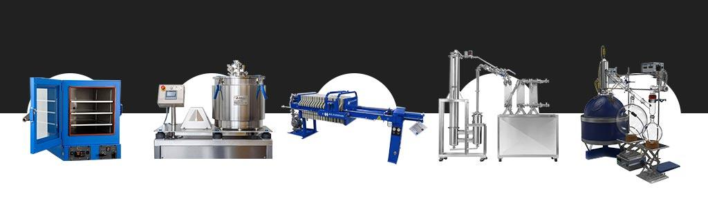 Processes and Equipment For Making Extracts, Distillate, & Isolate